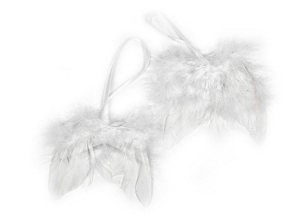 VBS Engelsflügel, weiß, 8cm, 2 Stück