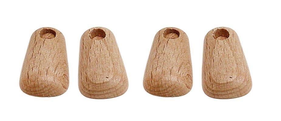 Clownfüße aus Holz, 4 Stück