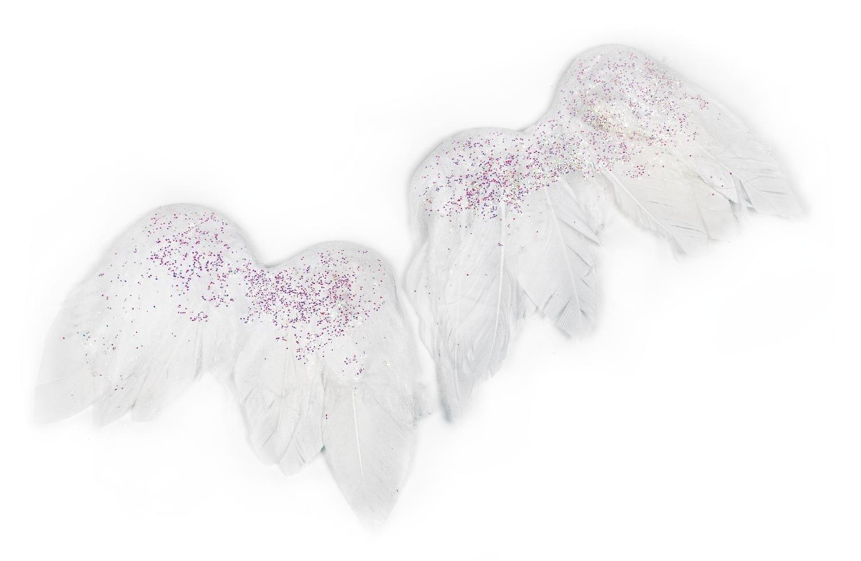 VBS Engelsflügel, 2 Stück ca. 8 x 6,5 cm | Dekoration > Figuren und Skulpturen > Engel | Federn | VBS