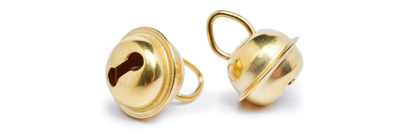 Schellen, 9 mm, Goldfarben, 10 Stück
