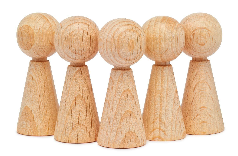 Figurenkegel, 5 Stück