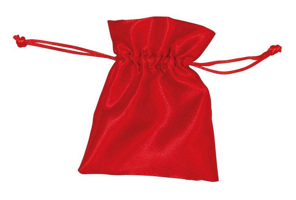 Rote Satinsäckchen, 6 Stück