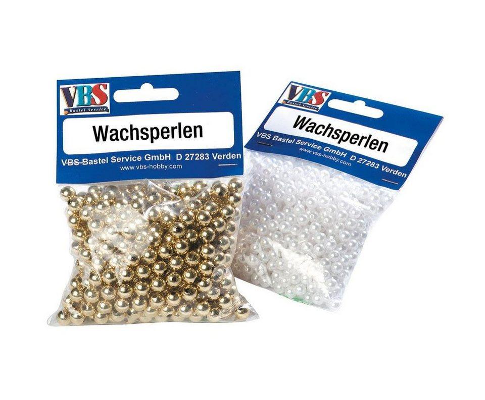 VBS Großhandelspackung VBS Wachsperlen, Ø 4mm, 1000 Stück in gold