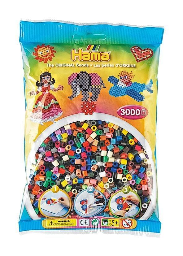 Hama Bügelperlen Perlen-Mix Vollton