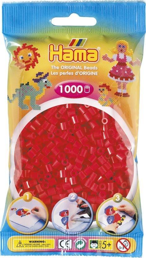 Hama Bügelperlen Perlen in Rot