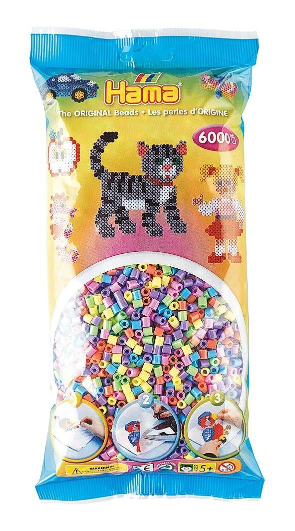 Hama Bügelperlen Perlen-Mix Pastell