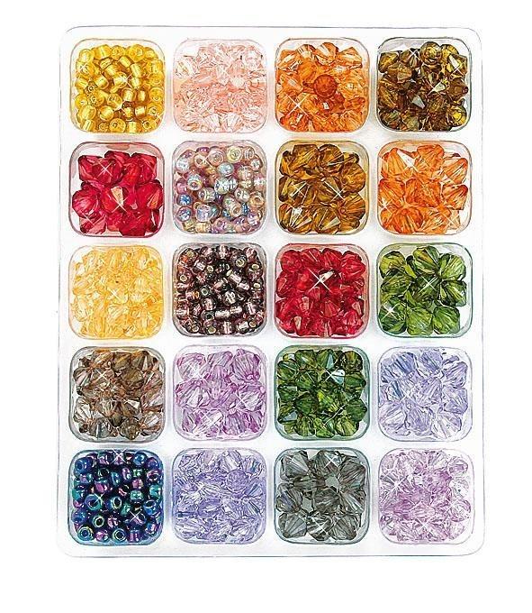 Perlenbox in Multicolor