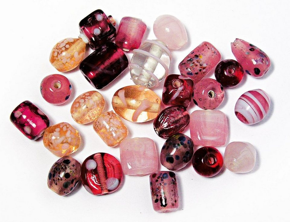 Schmuck-Glasperlen in rosé