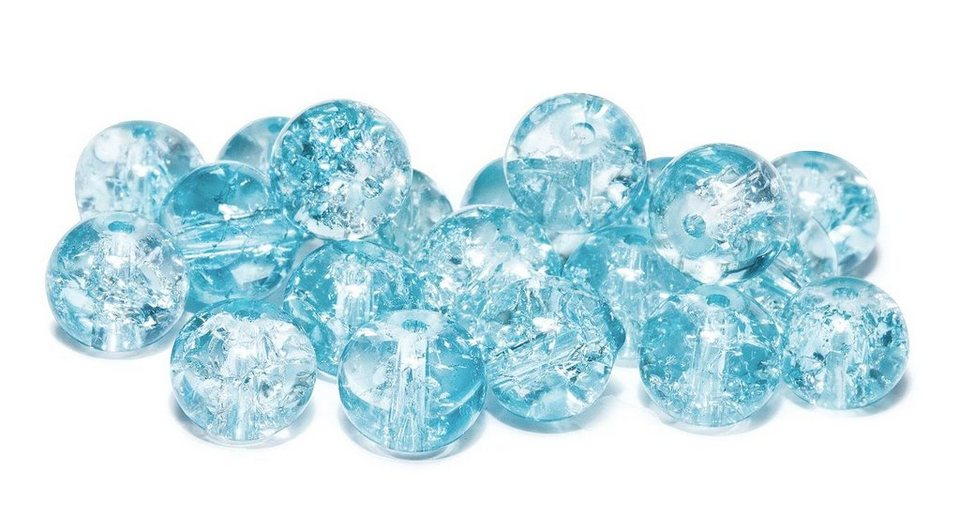 Glitzerperlen, Ø 8 mm, 20 Stück in Blau