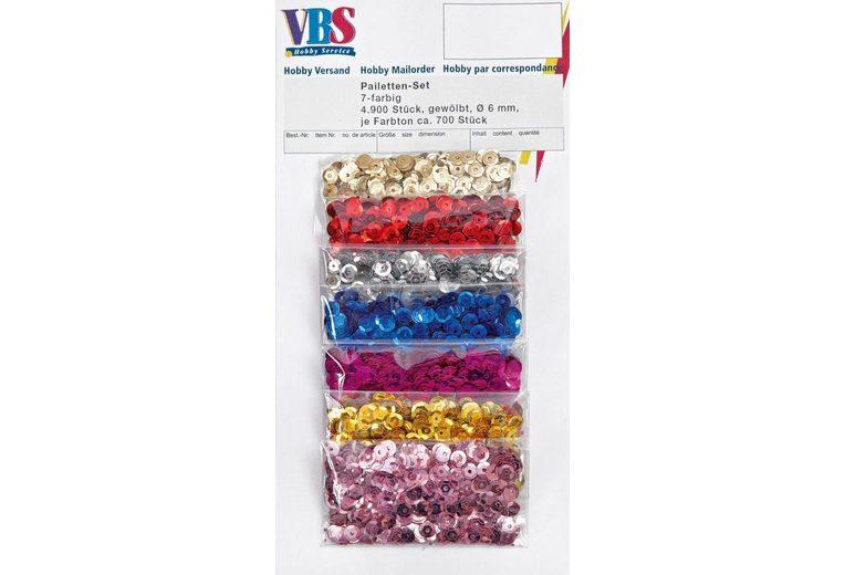 VBS Pailletten-Set, 7farbig