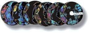 VBS Pailletten gewölbt, Hologramm, Ø6mm, 500 Stück in Schwarz