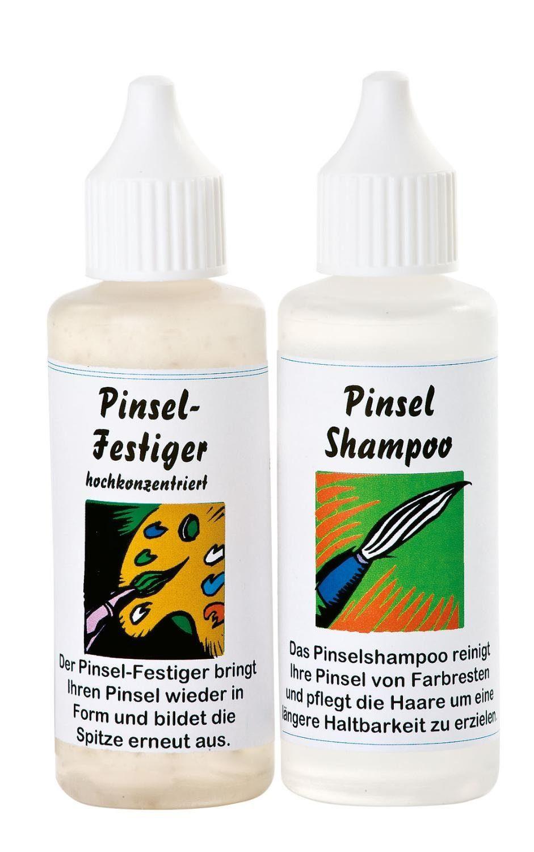 Pinsel-Shampoo und Festiger, je 50 ml