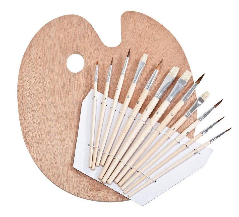 VBS Pinselmix mit Holzpalette, 12-erSet