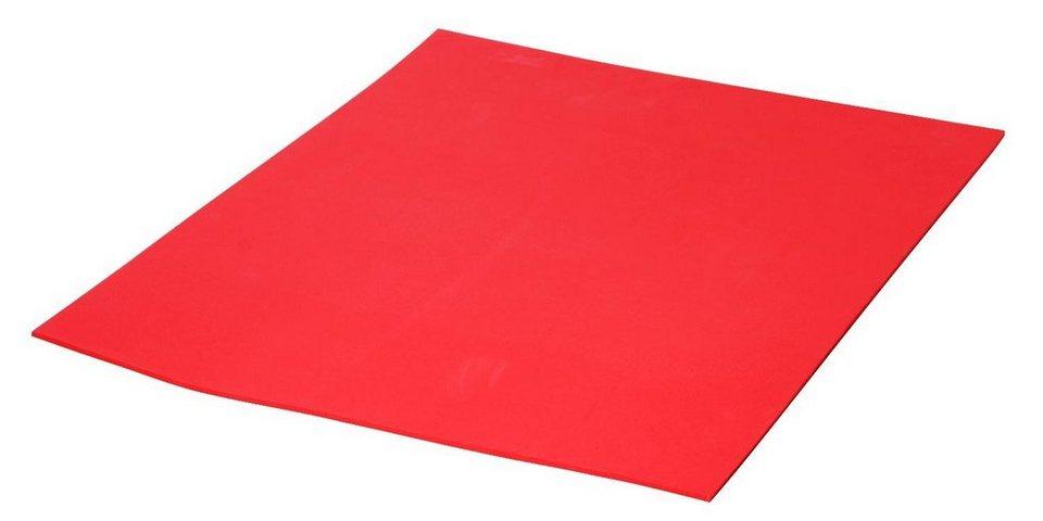 Moosgummi-Platten, 1mm in Rot