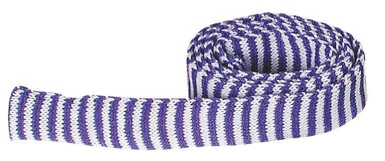 Ringel Strickschlauch, 2,2 cm breit in Blau/Weiß