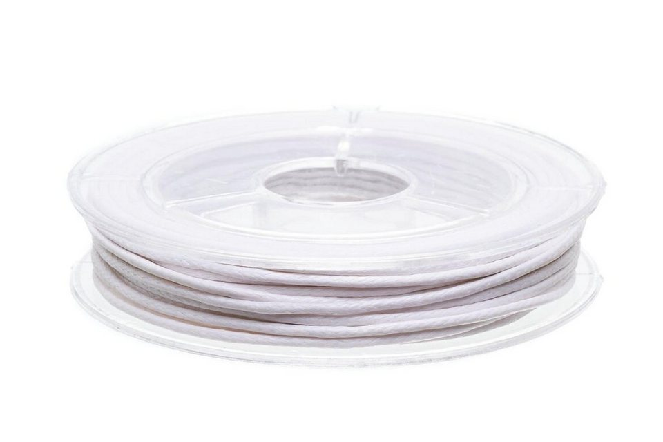 Schmuckkordel, 5 m x 1mm in weiß