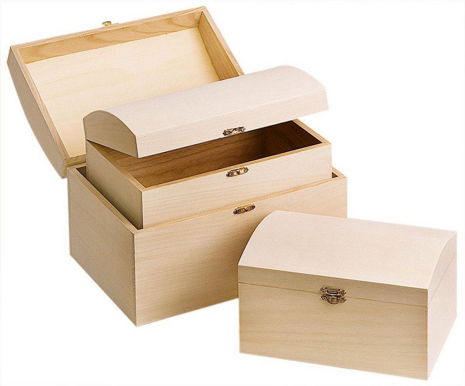vbs holztruhe 3er set online kaufen otto. Black Bedroom Furniture Sets. Home Design Ideas