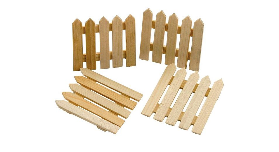 VBS Holz-Minizaun, 4 Stück
