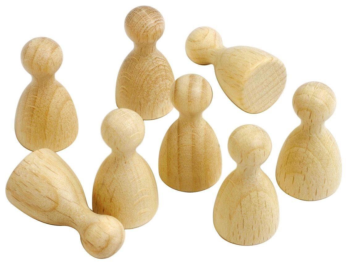 Holz-Spielfiguren, 8 Stück