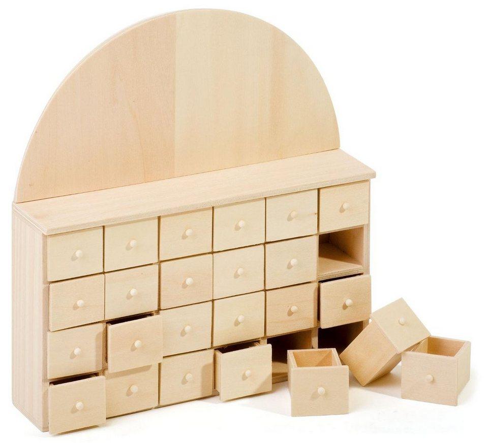 VBS Adventskalender mit 24 Schüben aus Holz