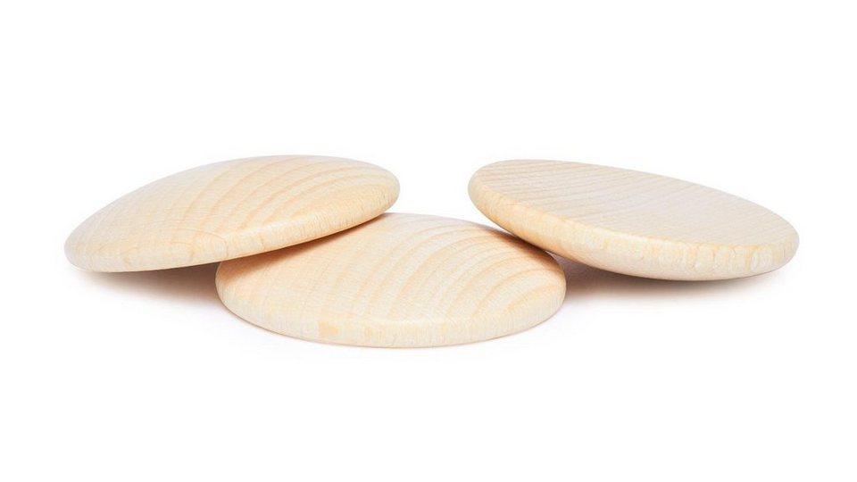 Holzplatinen, gewölbt, Ø 50 mm