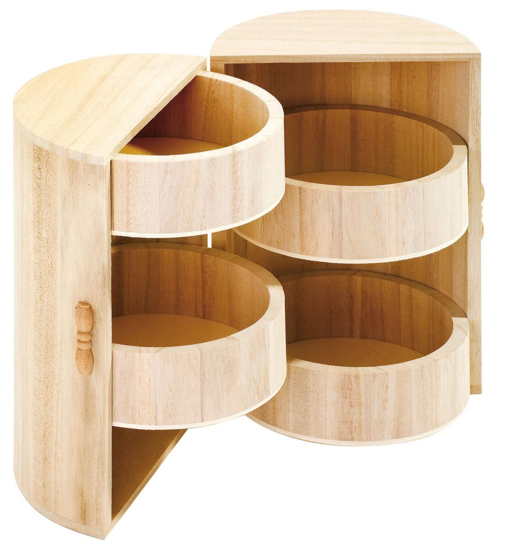 VBS Holz-Schränkchen, rund