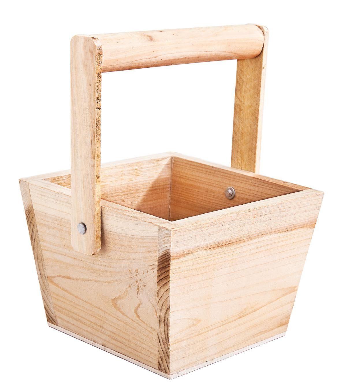VBS Henkelkörbchen aus Holz