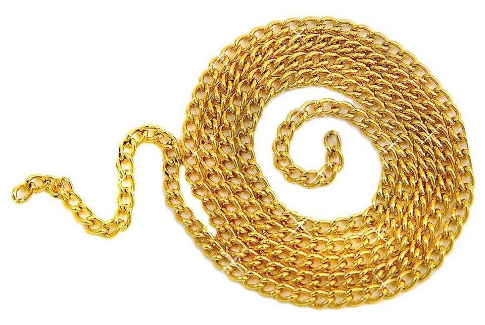 Ankerkette, 1m in vergoldet