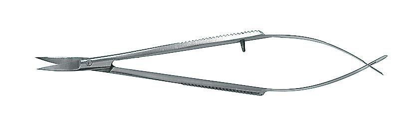 Pinzettenschere gebogen, 9cm