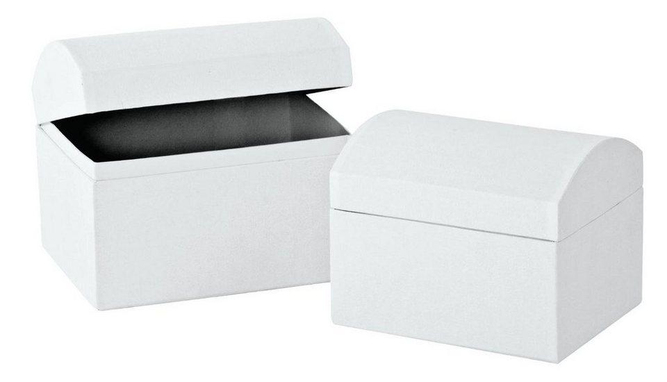 VBS Truhen, 2er-Set, aus weißem Karton kaufen