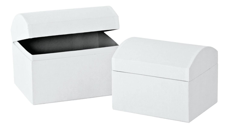VBS Truhen, 2er-Set, aus weißem Karton