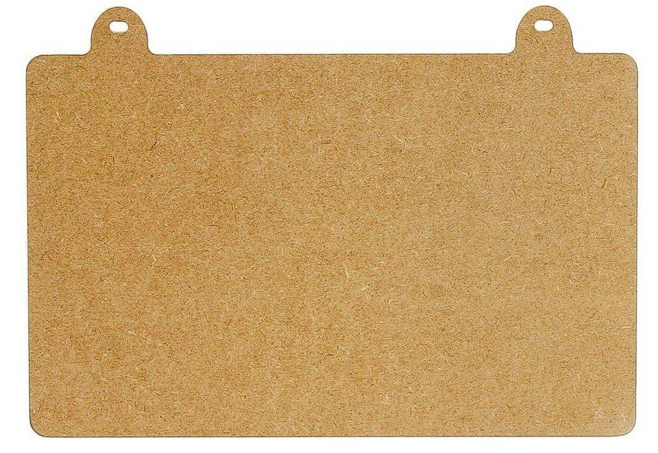 Deko-Schild, MDF-Holz