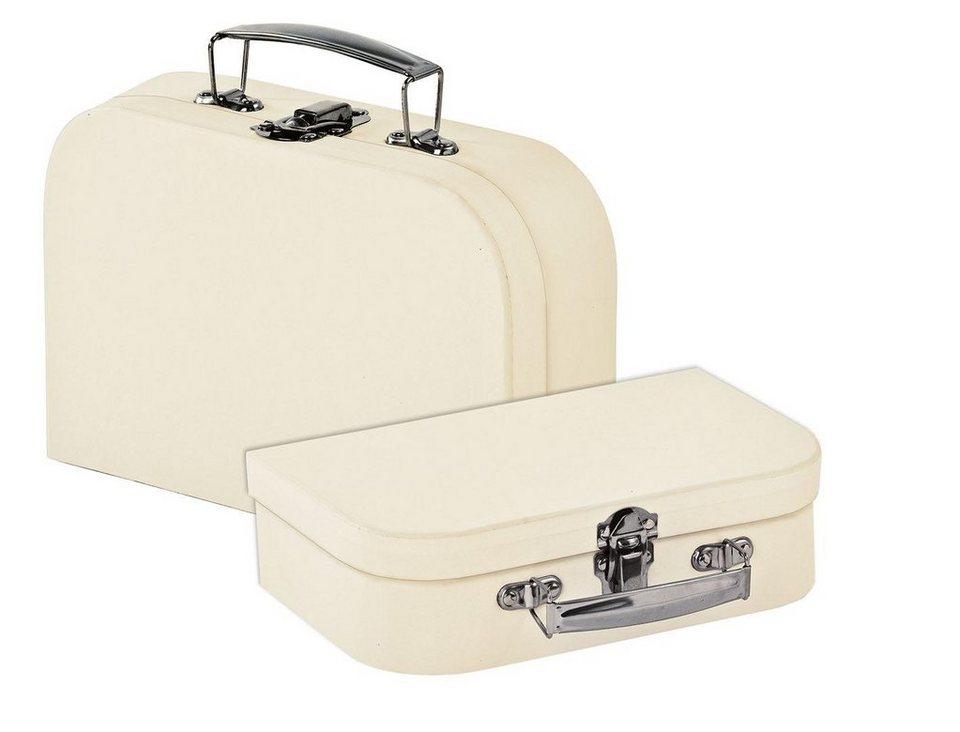 VBS Koffer, 2er-Set, aus cremefarbenem Karton