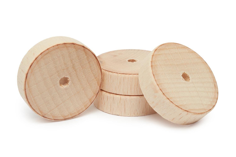 Holzscheiben/Räder, 4 Stück