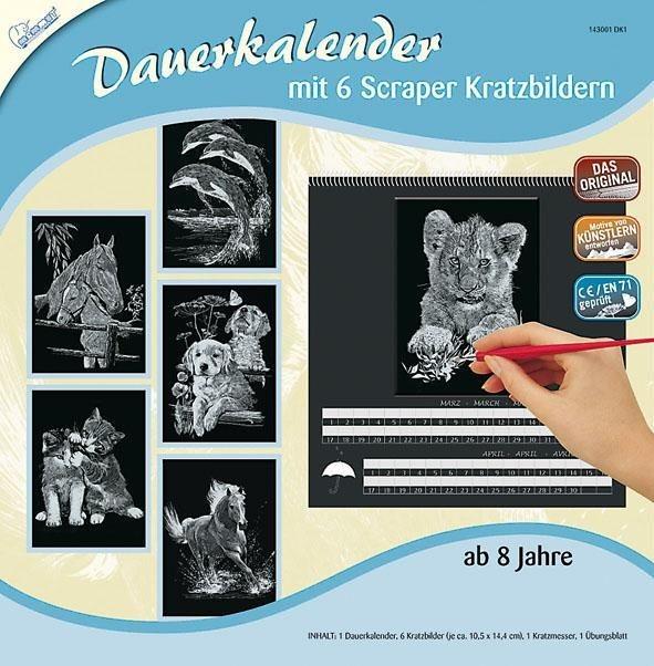 Scraper Dauerkalender, Tiere