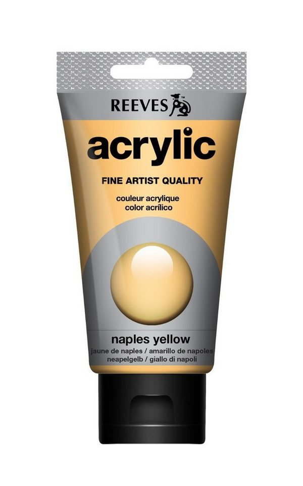 reeves Acrylfarbe Acrylic, 75 ml in Neapelgelb