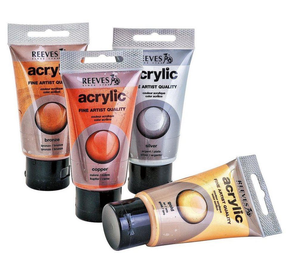reeves Acrylfarbe, Metallic-Set