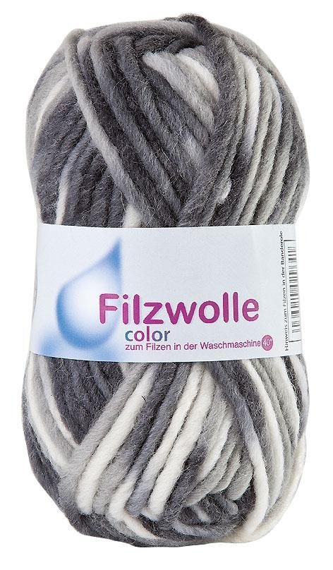Filzwolle Color, 50 g in Marmor 20