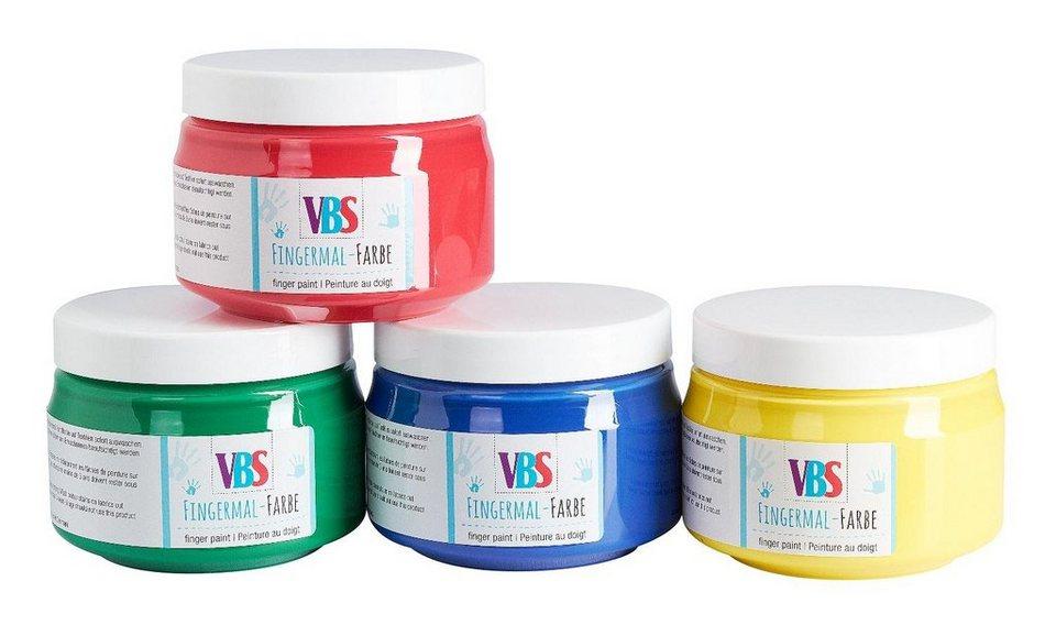 VBS Fingermalfarben , 4er-Set