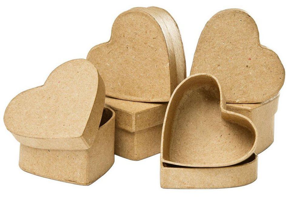 VBS Herz-Schachteln, 6 Stück