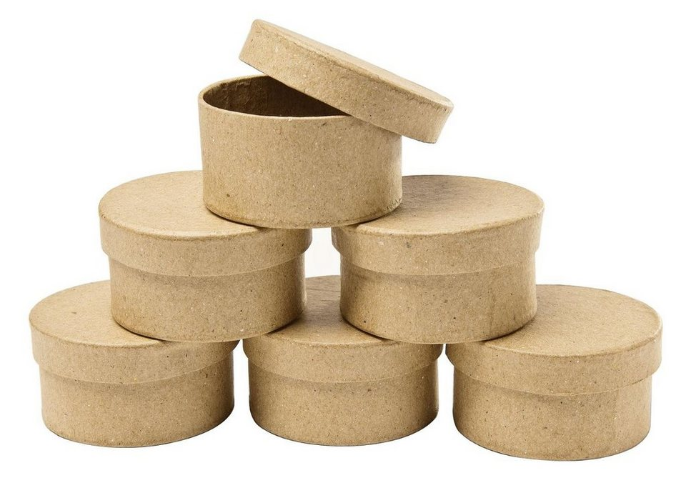 VBS Rund-Schachteln, Pappmaché, 6 Stück