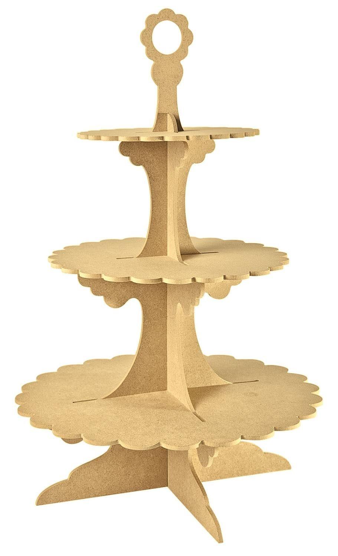 Etagere, 3-stufig, MDF-Holz