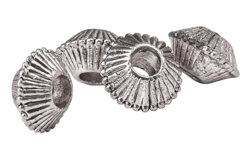 Metallperle, 4 Stück