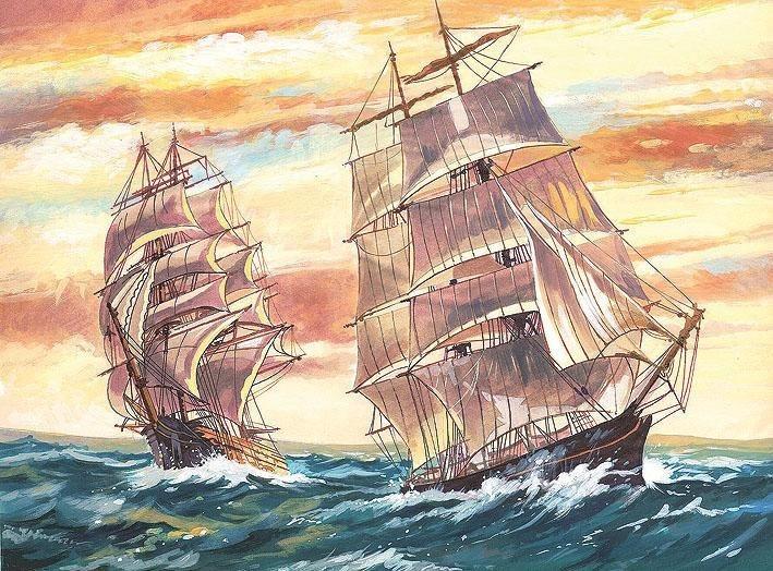 reeves Malen nach Zahlen, Schiffe