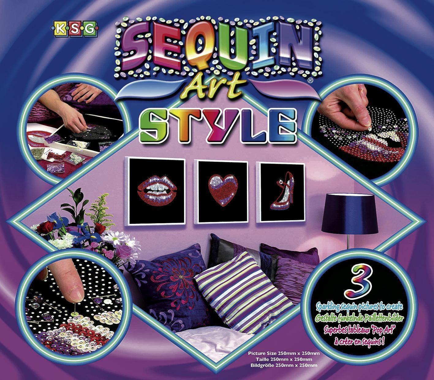 "Paillettenbild ""Art Style"", 3er-Set"