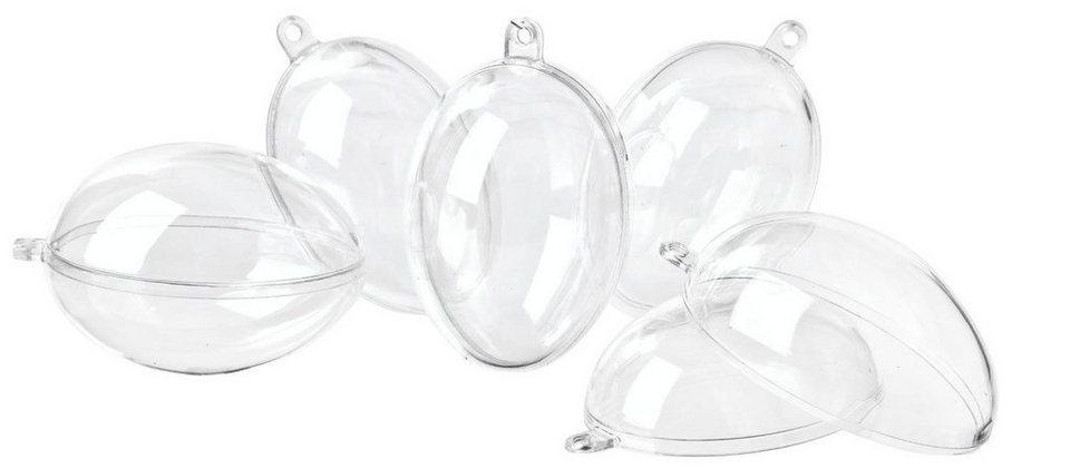 VBS Kunststoff-Eier, 6er-Pack, ca. 6 cm
