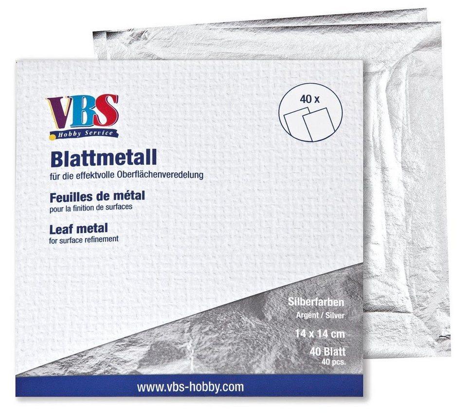 VBS Blattmetall in Silberfarben
