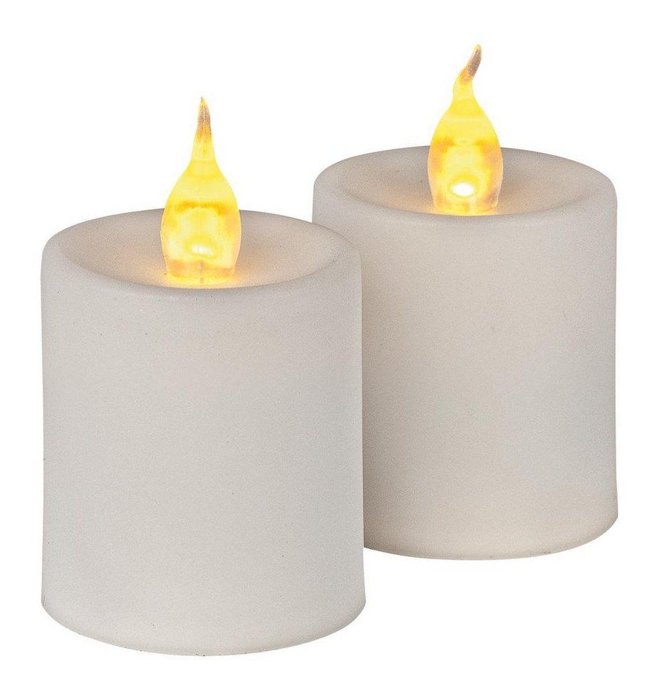 VBS LED Kerzen mit Flackerlicht, 2 Stück