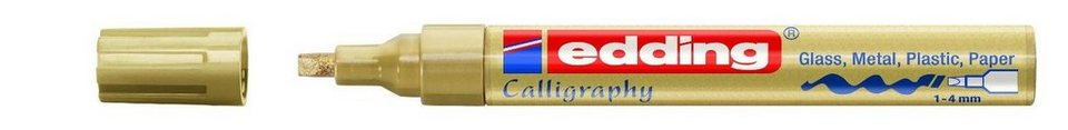 edding Glanzlack-Marker Kalligrafie, 755 in gold