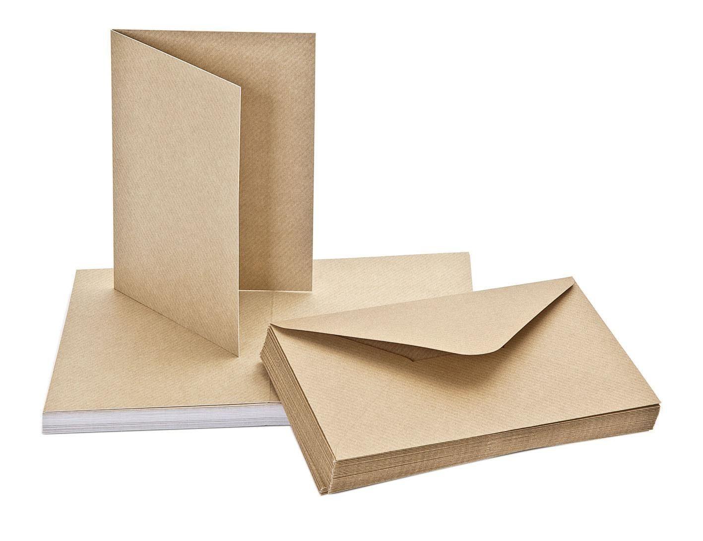 """Doppelkarten mit Umschlägen """"Kraftpapier"""""""